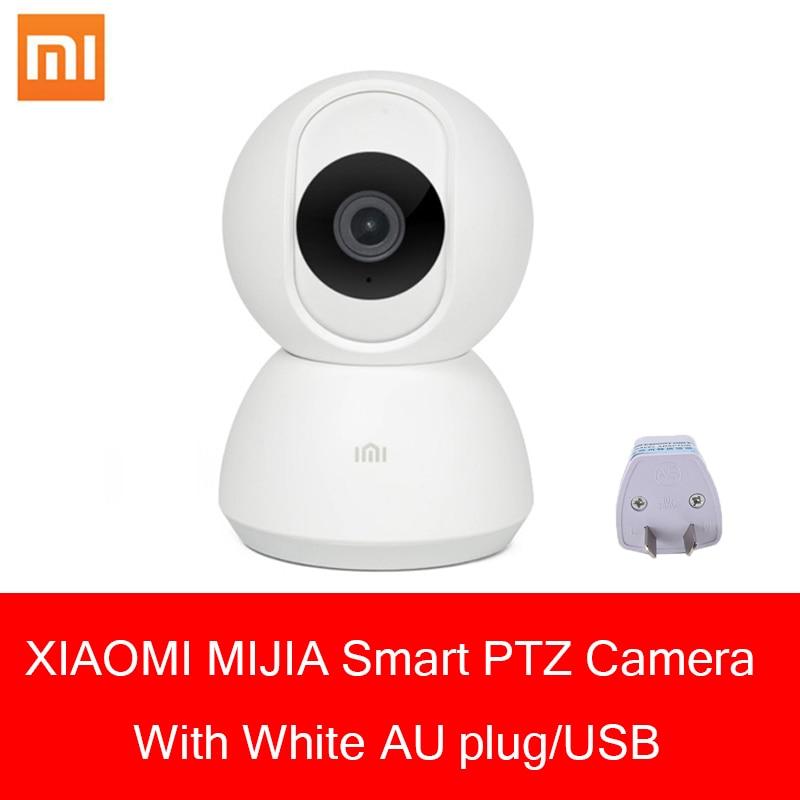 Nouveau 100% Original Xiaomi 1080 P Mijia caméra intelligente avec 360 degrés version de nuit avec prise AU pour Ios/Andorid et ordinateur