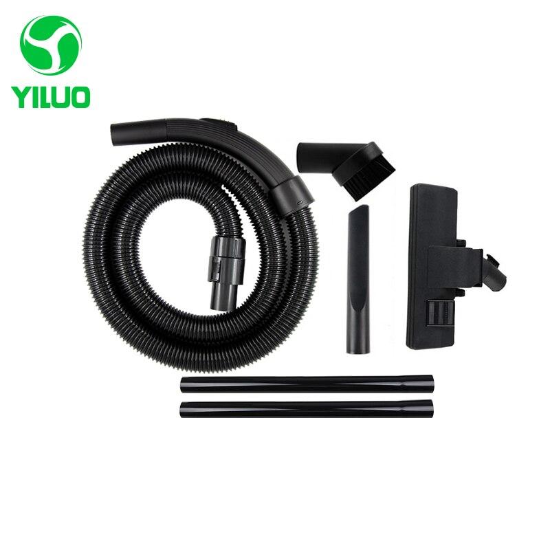 Diameter 32mm Black Flexible suction Hose+black Straight hose pipe +suction nozzle Vacuum Cleaner parts QW12T-605 VC34J-09C etc vacuum cleaner soft suction hose
