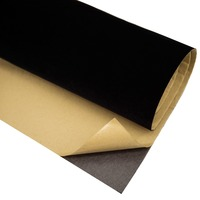 Black Velvet Flocking Contact Paper Stickers DIY Sticky