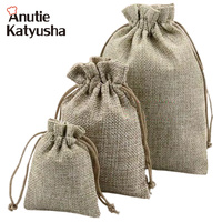 50Pcs Lot Vintage Natural Burlap Hessia Gift Candy Bags Wedding Party Decoration Favor Gift Pouch Jute