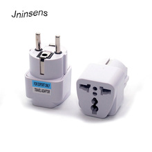Universal 2 Pin Round Electrical Plug Converter US AU UK To European KR DE France Germany Korea Travel Plug Adapter Wholesale цены онлайн