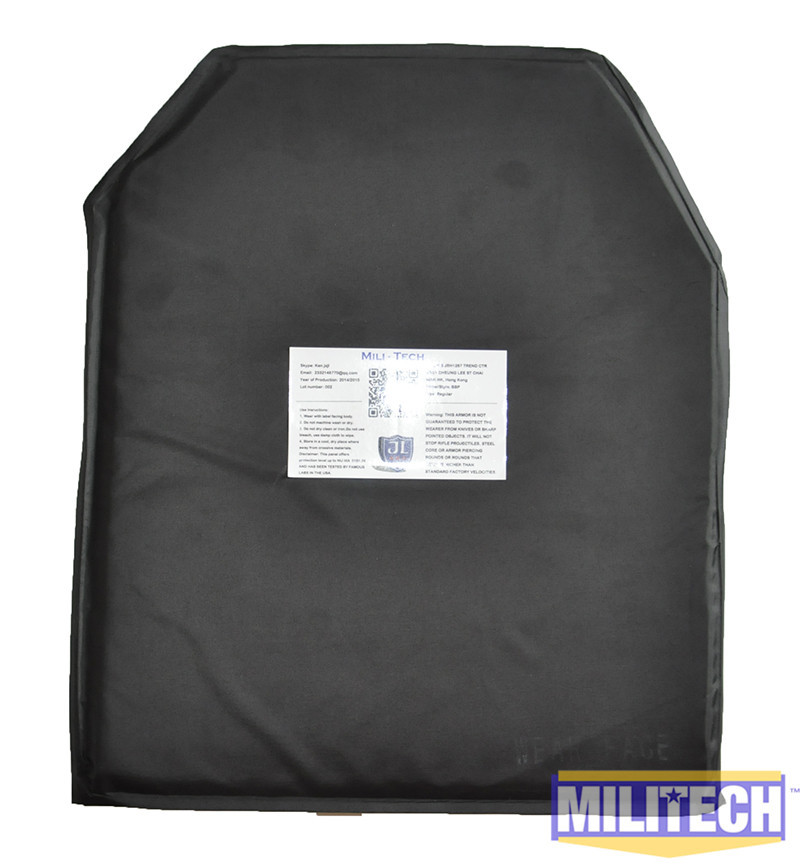 MILITECH 10''x12'' Advanced Shooters Cut FT Ballistic Panel Bullet Proof Plate Backer Body Armor Soft Armour NIJ Level IIIA 3A