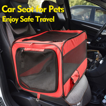 Pet Dog Carrier Pad Waterproof Dog Seat Bag Basket Pet Products Safe Carry House Cat Puppy Bag Dog Car Seat недорого