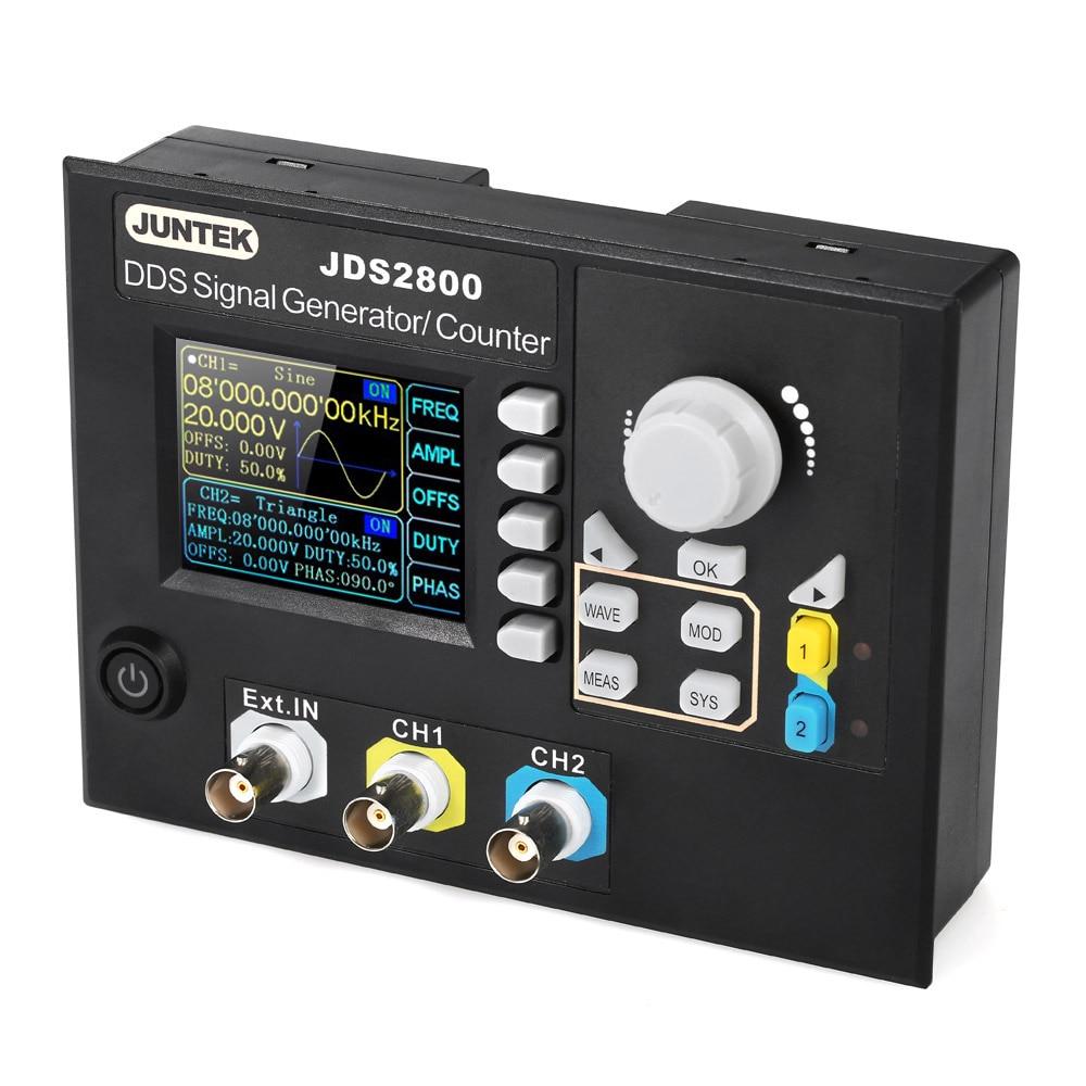 JUNTEK Signal Generator Digital Control Dual channel DDS Function Arbitrary Signal Generator Frequency Meter 15MHz 266MSa