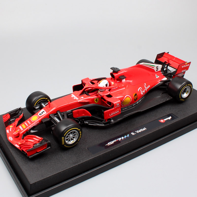 kids 1:18 big Scale <font><b>2018</b></font> BBurago Racing SF71H driver No.5 Kimi Iceman No.5 Sebastian Vettel diecast models cars toy image