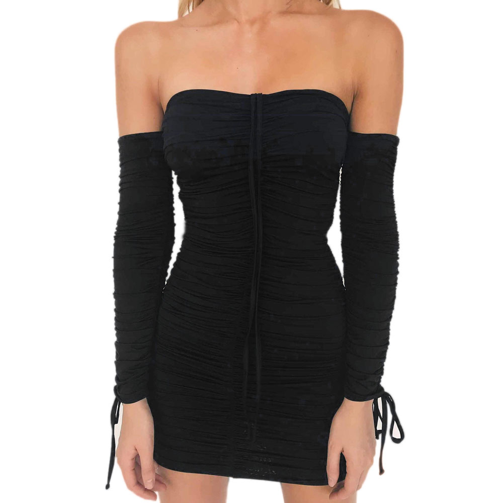 Feitong Womens Winter Dress Bodycon Bandage Evening Party Dress Ladies Formal Big Size Sexy Bandage Mini Dress black friday ...