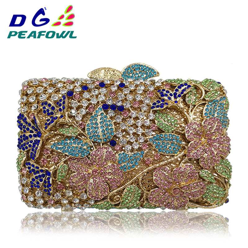 Luxury Women Colorful Crystal Hollow Out Clutch Bags Girlfriend Imperial Horse Wallet Wedding Shoes And Matching Evening BagLuxury Women Colorful Crystal Hollow Out Clutch Bags Girlfriend Imperial Horse Wallet Wedding Shoes And Matching Evening Bag