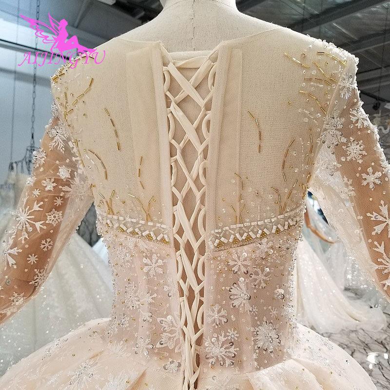 Image 5 - AIJINGYU Modern Wedding Dress Gowns Underskirt Summer Romantic Sexy Lace 2019 Marriage Vintage Brush Bridal Wedding DressesWedding Dresses   -