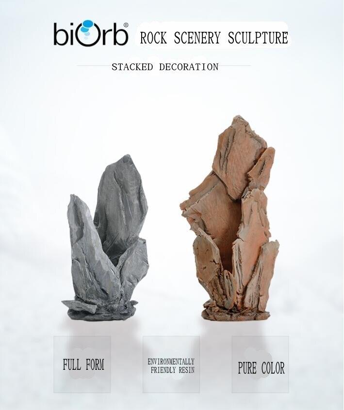 OASE British biorb original Aquarium rouge/gris empilé rock simulation décorations Aquarium imitation pierre naturelle ornements
