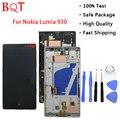 Лучшее Качество Lumia 930 Рамке ЖК-ЭКРАНА Для Nokia Lumia 930 ЖК-Дисплей С Сенсорным Экраном Дигитайзер С Рамкой Полной Сборки