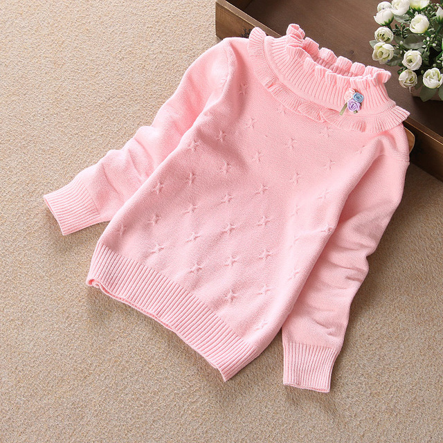 110f08792 Autumn Winter Toddler Girls Sweater Warm Long Sleeve Kids Girl ...