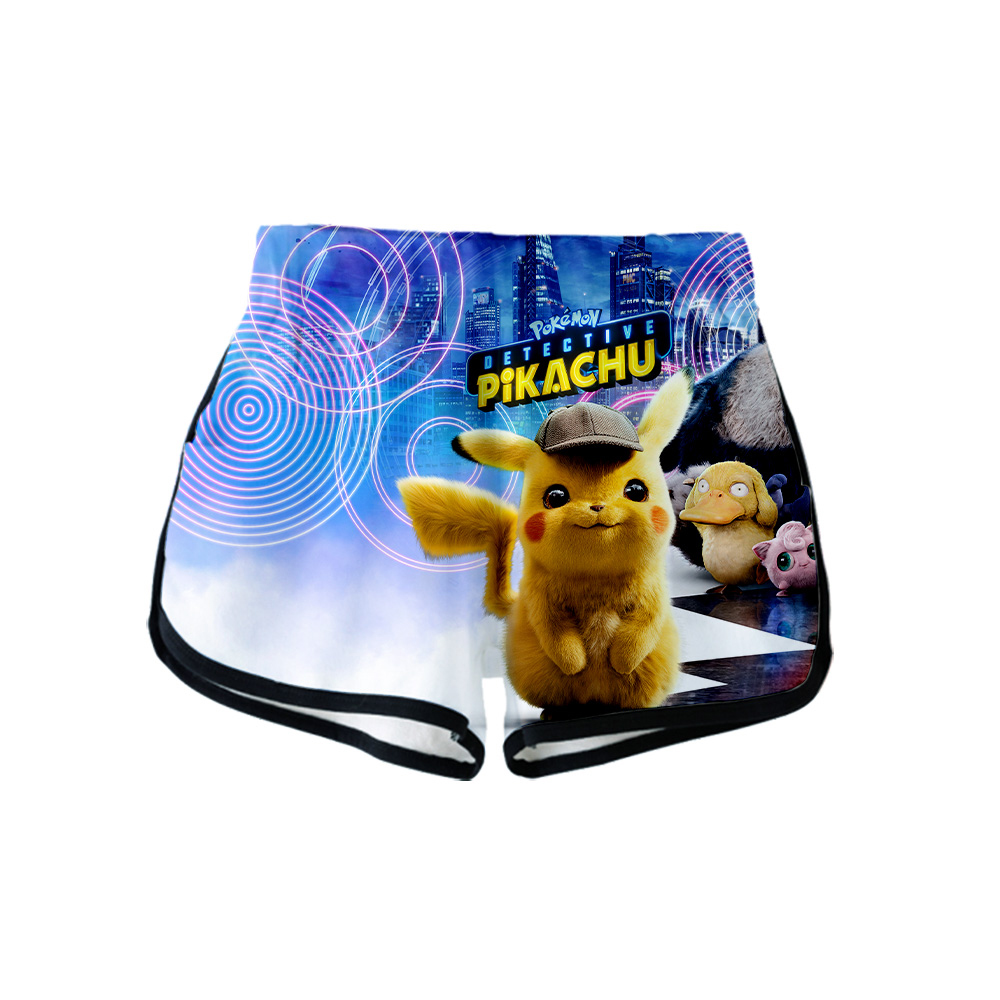 NEW Anime Movie Pokemon Detective Pikachu Lovely 3D Print Summer Women Casual Harajuku Cute Girl Hot Sale Sexy Shorts Clothes