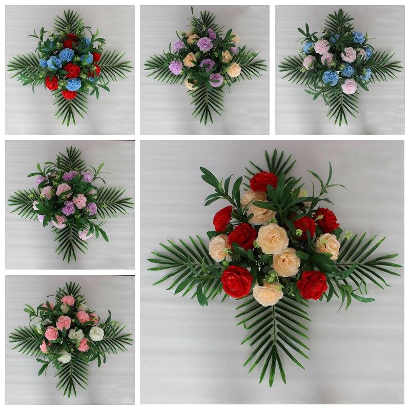 2 pcs/lot Sen Style bricolage décor de scène de mariage fleurs artificielles Table soie Rose pivoine plante mixte Design fleur affichage produits