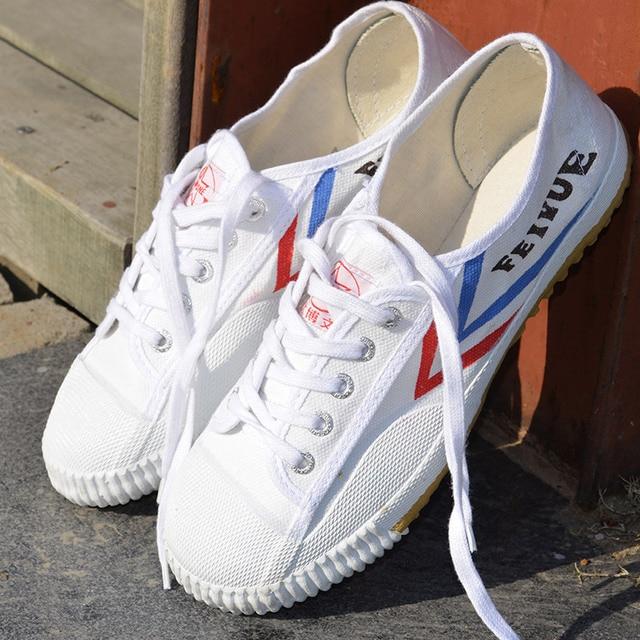 3a7b7f5f189e Белый Кунг Фу Feiyue обувь боевых искусств Тай Чи тхэквондо ушу обувь для  карате спортивные кроссовки