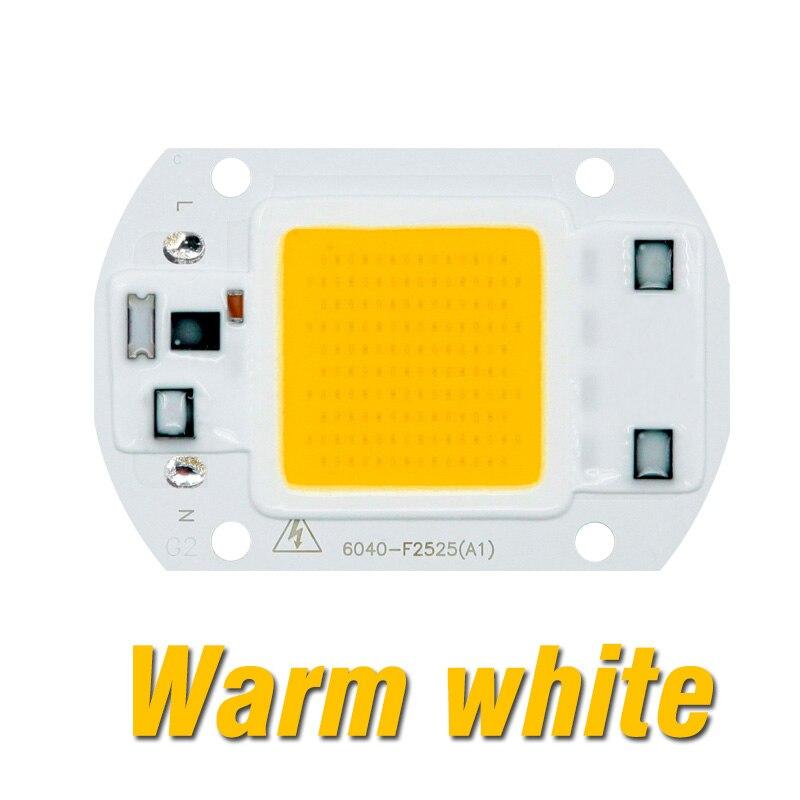 Светодиодный Grow COB Чип Фито лампа полного спектра AC220V 110V мощностью 10 Вт, 20 Вт, 30 Вт, 50 Вт, ручная сборка для комнатных растений рост рассады и цветок роста растений фитолампа - Испускаемый цвет: Warm White