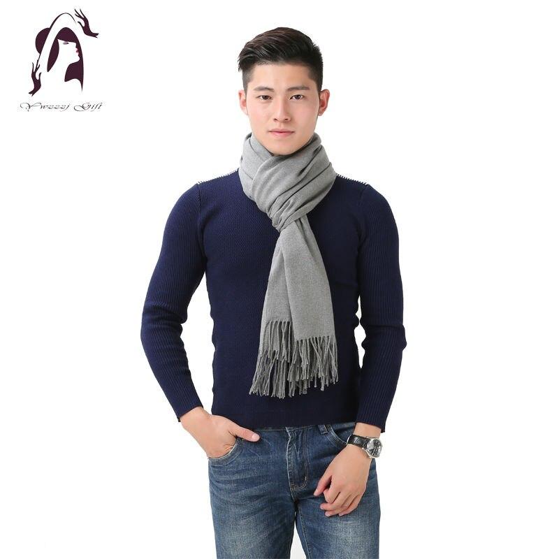 [YWJUNFU] 2017 Winter Cashmere Scarf Brand Men Scarves Wool s