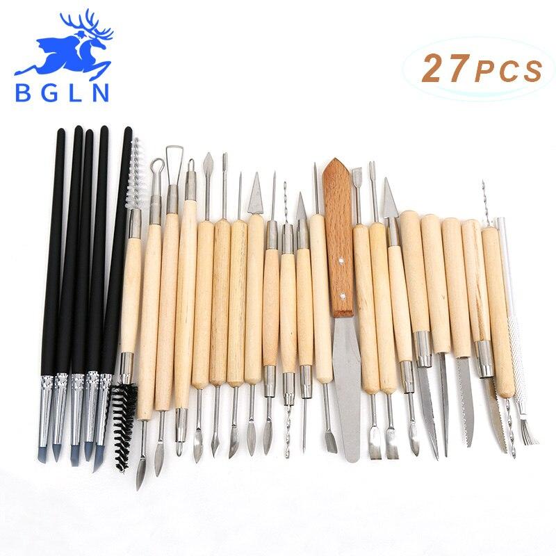 BGLN 27 piezas de goma de silicona de formadores de cerámica arcilla escultura talla de cerámica Hobby herramientas