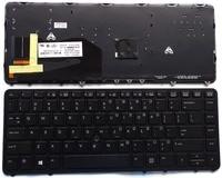 Teclado portátil inglés para HP elitebook 840 G1 850 G1 ee.uu. nueva negro con señalar el palillo con retroiluminación