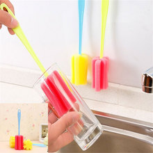 3 PC Durable Long Handle Sponge Cup Brush Coffee Stains Kitchen Cleaning