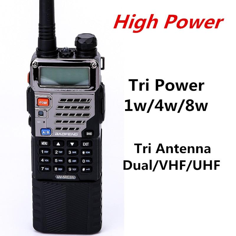 bilder für BAOFENG UV-5RE8W Ham Radio 8 Watt Power 3800 mah Batterie 10 km Dual-Band VHF/UHF FM Zweiwegradio Mit Erweiterten Ohrhörer und 2 Antennen