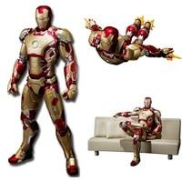 SHFiguarts Iron Man Mark 42 com Sofá Modelos Brinquedos 15 cm PVC Action Figure Collectible KT2429