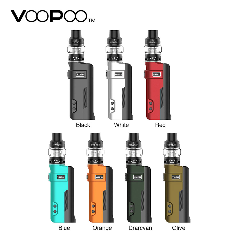 Electronic Cigarette Voopoo Rex 80W Starter Kit with Uforce SubOhm Tank Powered By Single 18650 Battery Vape Vaporizer VS Drag 2Electronic Cigarette Voopoo Rex 80W Starter Kit with Uforce SubOhm Tank Powered By Single 18650 Battery Vape Vaporizer VS Drag 2