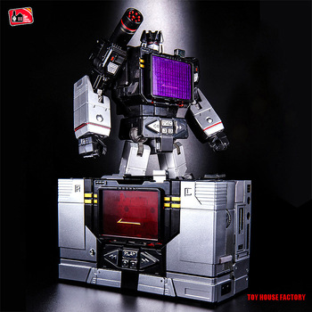 22cm Deformation Black Diamond confinement Transformation Alloy Action Figure toy car Robot THF-01sound recorder wave Model MP13