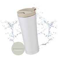 Car Coffee Milk Mug 500ml Double Wall Stainless Steel Vacuum Thermos Cup Travel Tea Watter Bottle