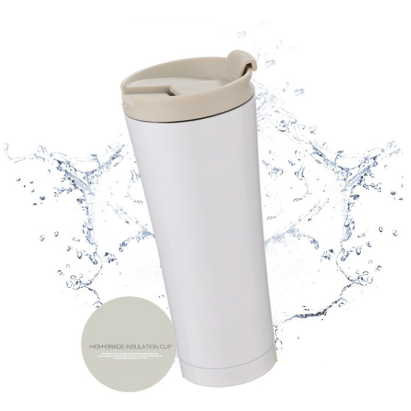 500ml Car Coffee Mug Double Wall Stainless Steel Insulated Vacuum Thermos Cup Travel Tea Water Thermal