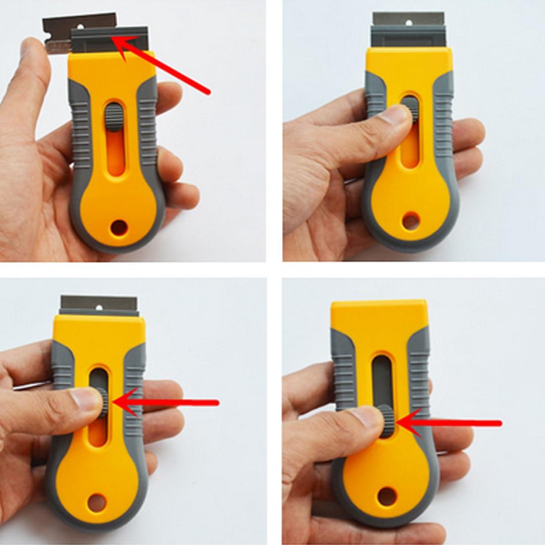 BU-Bauty Razor Scraper Steel Blades Knife Tinting Tools Ice Scraper Auto Car Sticker Squeegee Window Vinyl Film Remover