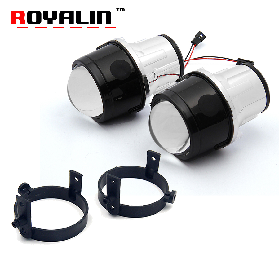 ROYALIN Bi-Xenon Fog Light Projector Lens for Mazda 3 6 CX5 Axela Atenza 2.5'' Full Metal H11 HID Bulbs Car Styling 4300K 5000K fog light lens for ford 2 5 full metal bi xenon projector lens auto h11 fog light