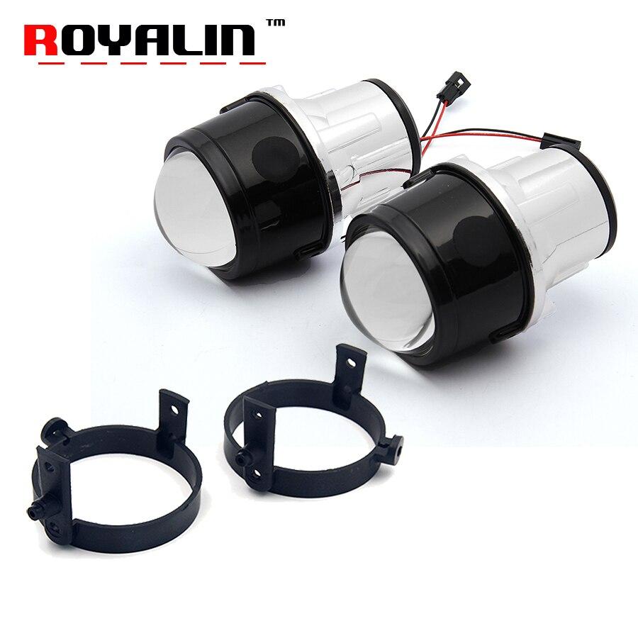 Royalin Биксеноновая Противотуманные фары объектив проектора для Mazda 3 6 CX5 Axela Atenza 2,5 ''металлический H11 HID лампы автомобилей Стайлинг 4300 К 5000 К