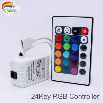 Kontroler LED RGB DC12V 24 klawisze IR pilot zdalnego sterowania dla SMD 3528 5050 listwy RGB LED światła kontroler LED RGB kolorowe tanie i dobre opinie MUFAVA Wireness 24Key Controller led strip controller 5m to 10m Remote Control Kontroler rgb Plastic 1year Max 144W Led Tape