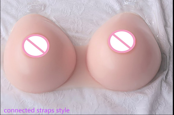 ФОТО ONEFENG 800g Silicone Fake Breast Form for Crossdresser Man Realistic Artificial Boobs Whole Sale