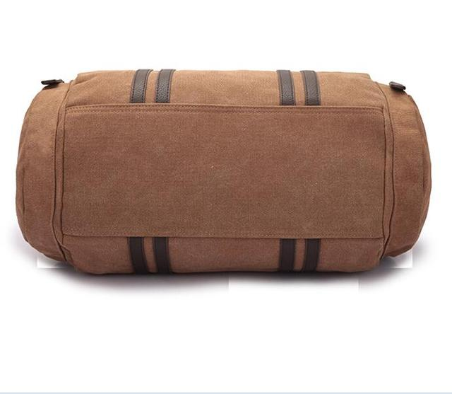 2017 new hot cotton canvas large-capacity travel bag simple and practical British wind portable cylinder package YY9865
