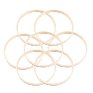 10 sztuk średnica łapacz snów pierścień okrągłe drewniane tamborek bambusowy narzędzia rękodzielnicze DIY dla kobiet kobieta dziewczyna 15cm/20cm2 3cm/26cm
