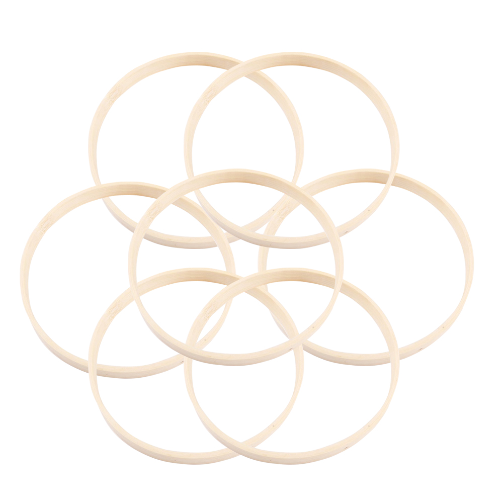 10pcs Diameter Dream Catcher Ring Round Wooden Bamboo Hoop DIY Craft Tools For Creating A Dream Catcher Findings