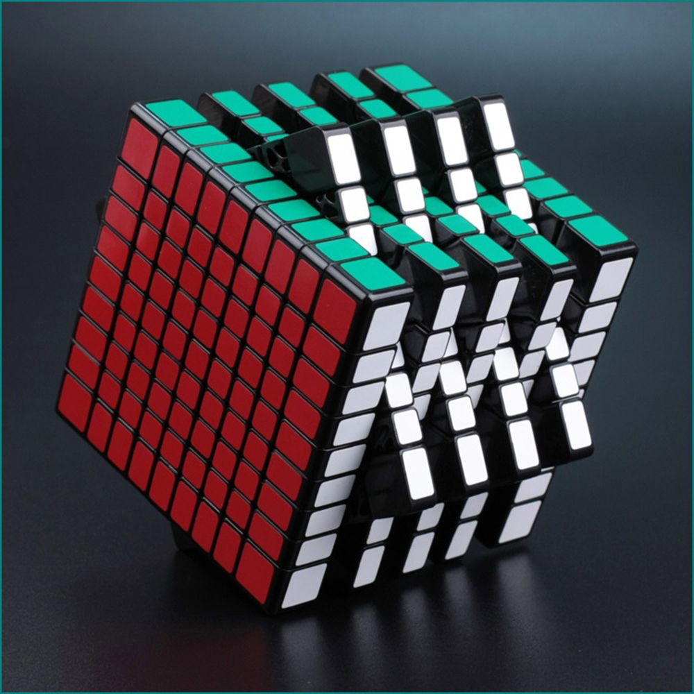 где купить 9*9*9 Black Professor Cube Competition Speed Magic Cube Puzzle Educational Toys for Children дешево