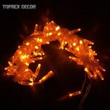 Toprex 32.8ft Orange LED string light outdoor christmas lights fairy garland wedding