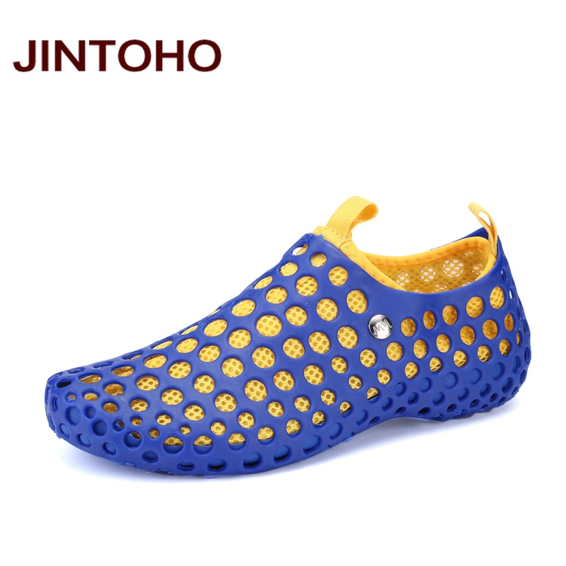 6f5add5776df JINTOHO Summer Breathable Hole Unisex Shoes Casual Fashion Men Shoes Water Beach  Shoes Cheap ...