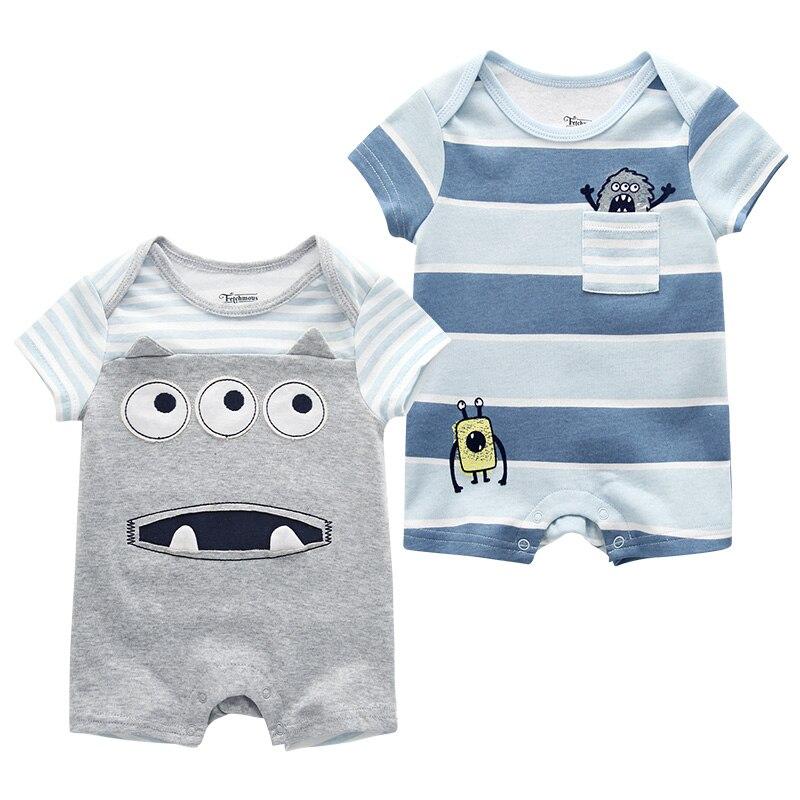 bb9cc8dc1 Baby Boy Clothes Rompers Newborn Infant Baby Girl Summer Roupas de ...