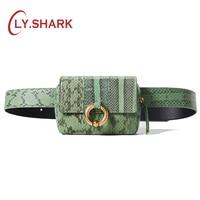 BVLRIGA Women snake bag 2019 new women's bag ins fashion mobile phone bag leather shoulder Messenger mini chest bag pocket