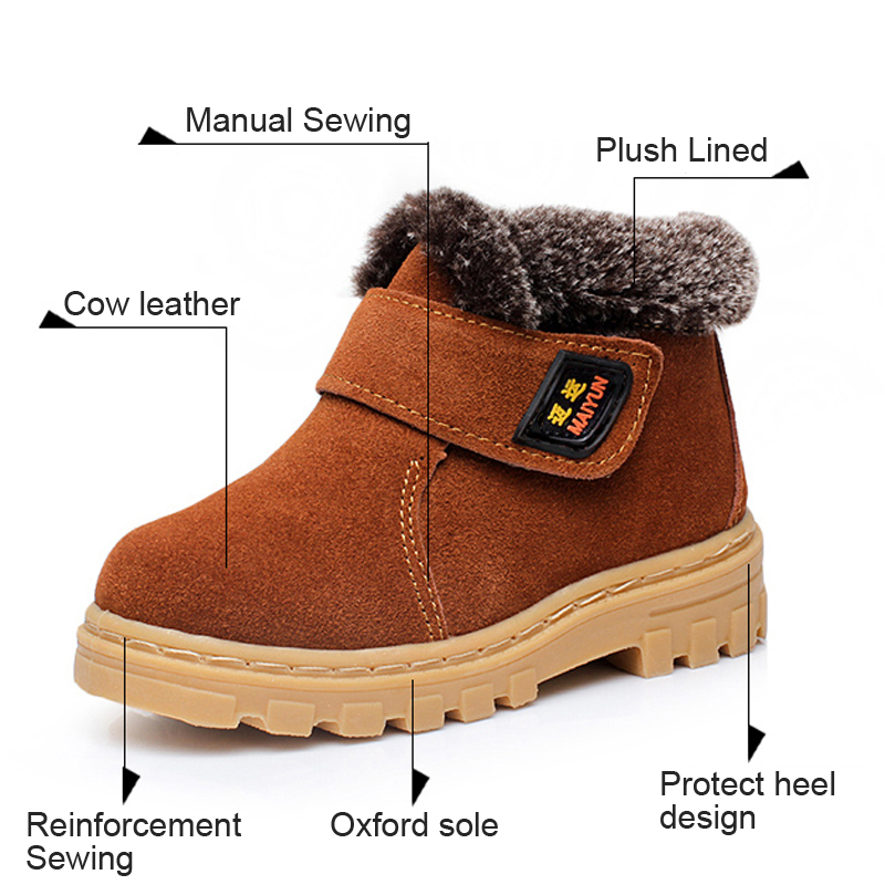 Xemonale-Children-Boots-Boys-Girls-Winter-Snow-Boots-Plush-Lined-Cow-Leather-Waterproof-Baby-Shoes-Kids-Martin-Sneakers-Oxford-1