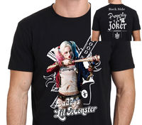 Harley Quinn Margot Robbie Sucide Squad Daddy Lil Monster T Shirt Men Casual 100 Cotton Tee