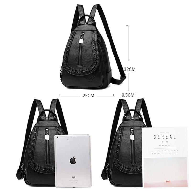 HTB1rNyTbhD1gK0jSZFsq6zldVXab Women Leather Backpacks Zipper Female Chest Bag Sac a Dos Travel Back Pack Ladies Bagpack Mochilas School Bags For Teenage Girls