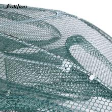Fulljion Fishing Nets Folded  Portable Automatic Nylon Casting Network Shrimp Trap Wobbler Cast Mesh Trap Multilateral Holes