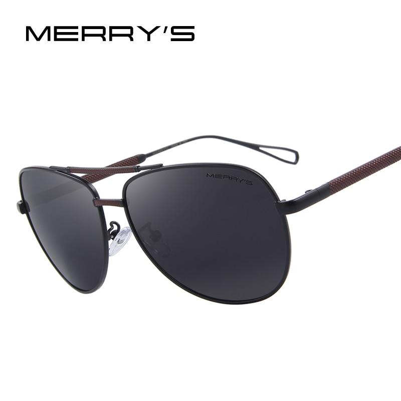 MERRY'S Men Aviation Klasik Sun glasses HD Aluminium Terpolarisasi - Aksesori pakaian