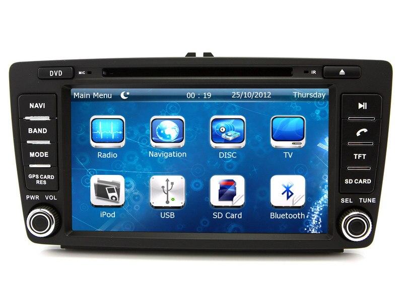 8 2 din car dvd player gps navigation for skoda octavia. Black Bedroom Furniture Sets. Home Design Ideas