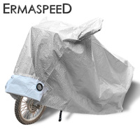High Quality Aluminum Film Motorcycle Cover Anti UV Waterproof S M L XL XXL Silver Red