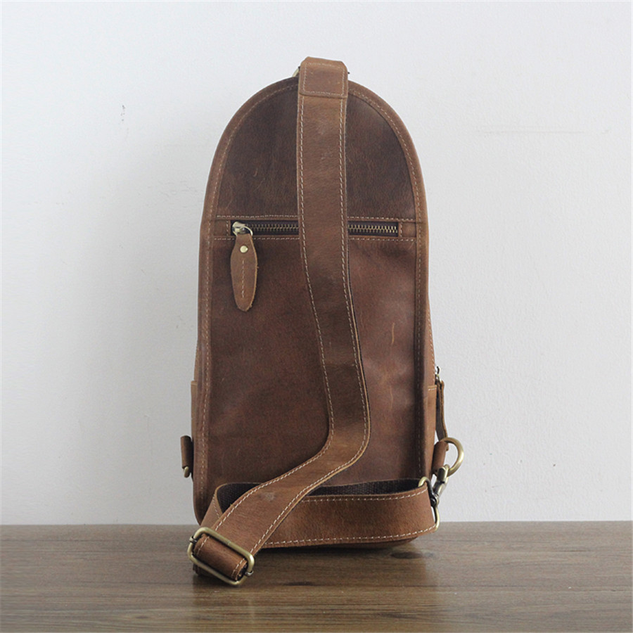 Diagonal Leather Korean Version Of The New First Layer Of Leather Fashion Casual Shoulder Bag Chest Bag(China)